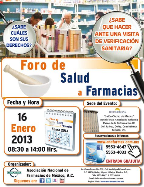 Foro de Salud a Farmacias   ANAFARMEX