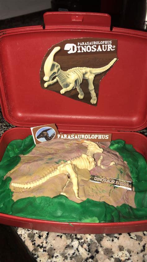 Fósil de dinosaurio para niños. Manualidad fácil con ...