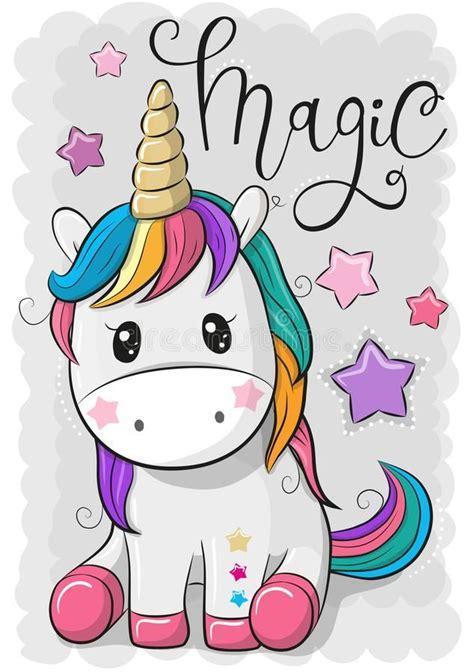Foto acerca Unicornio lindo de la historieta aislado en un ...