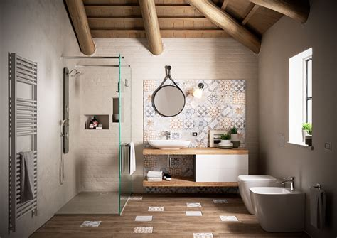 Foto: Baño con Diseño de Mosaicos Hidráulicos #240826 ...