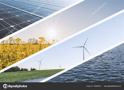Foto: energía natural   Collage de fuentes de energía ...