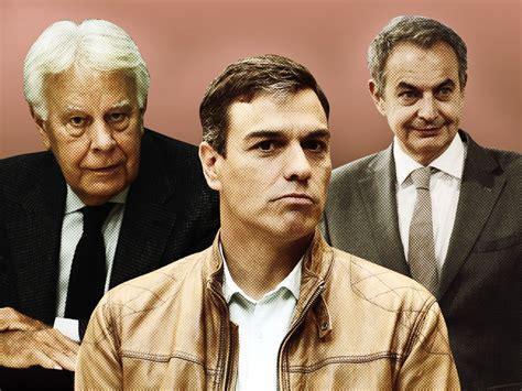 Foto F. González, Zapatero y Sánchez   kosmos polis