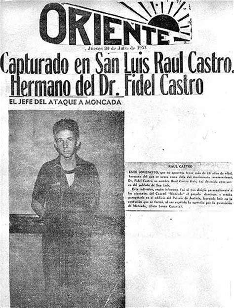 Foto: Raúl Castro en la portada de un diario en 1953 ...