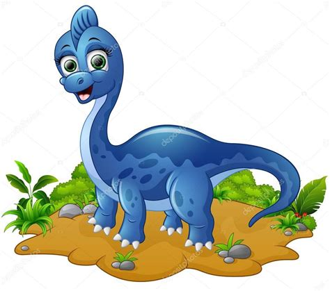 Fotos: del dinosaurio azul   Dibujos animados lindo ...