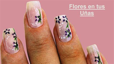 Fotos o Imagenes de Uñas Decoradas paso a paso con Flores ...