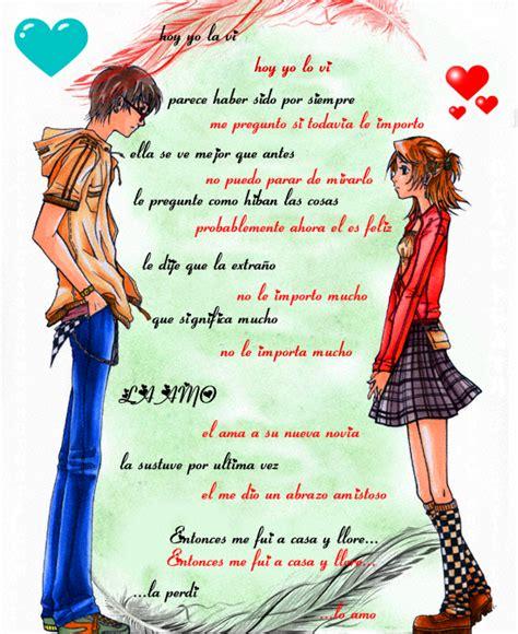Fotos para facebook: Anime love con frases de amor.
