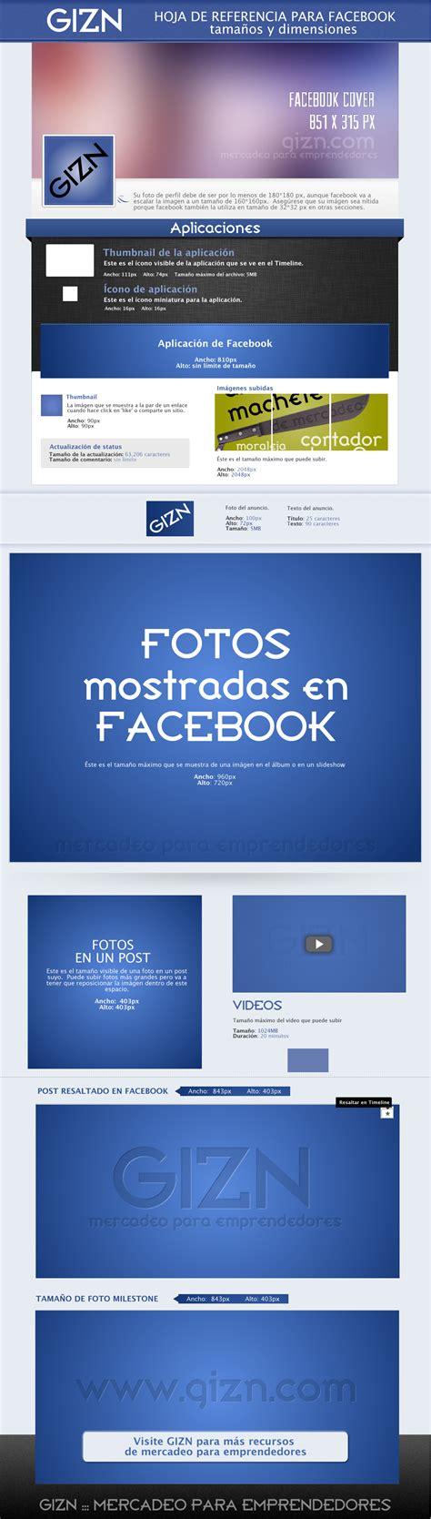 Fotos para Facebook   tamaños y dimensiones :: GIZN