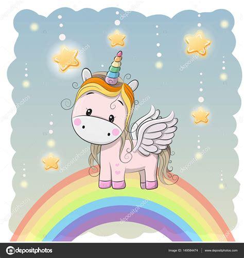 Fotos: unicornio animados | Lindo unicornio de dibujos ...
