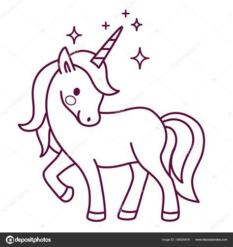 Fotos: unicornios | Vector de dibujos animados simples ...