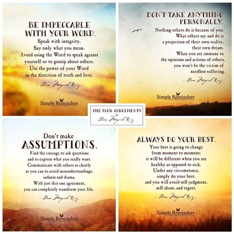 Four Agreements | Sweet Breathing – Deepening Into A ...