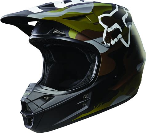 Fox Racing Adult Green Camo/Black V1 Camo Dirt Bike Helmet ...
