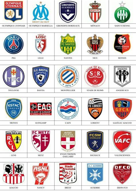 Francia   Pins de escudos/insiginas de equipos de fútbol.