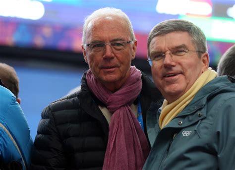 Franz Beckenbauer, Thomas Bach   Franz Beckenbauer and ...