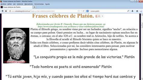 Frases célebres Platón seleccionadas   YouTube