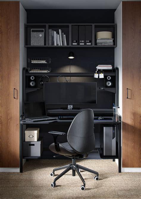 FREDDE Escritorio, negro, 185x74x146 cm   IKEA