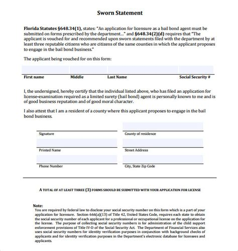 FREE 11+ Sample Sworn Statements in Google Docs | MS Word ...