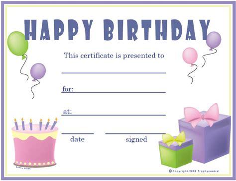 Free Birthday  Girl  Certificates, Certificate Free ...