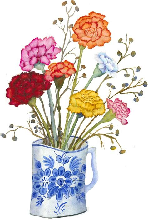 Free Carnations Clipart Gallery   Flowers Clip Art ...