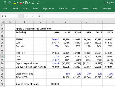 Free Cash Flow Model Excel • AccuratePsychic