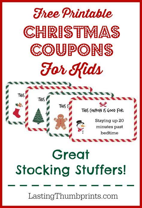FREE Christmas Coupon Printable for kids | Free Homeschool ...