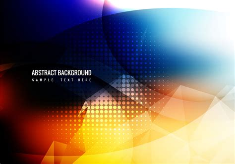 Free Colorful Abstract Background Vector   Download Free ...