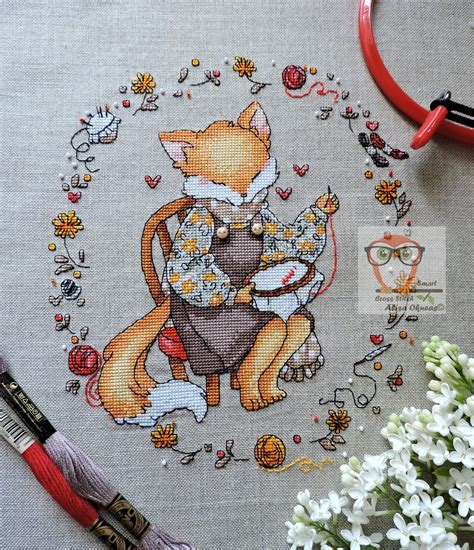 Free Cross Stitch Fox Pattern funny embroidery design ...