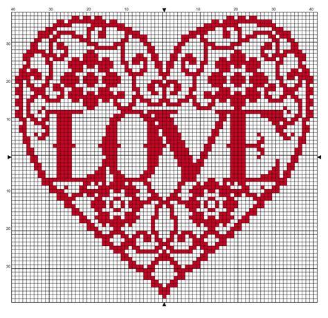 Free cross stitch pattern for Valentine's. 79 x 75 ...