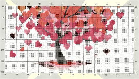 Free Cross Stitch Pattern Heart Tree | DIY 100 Ideas