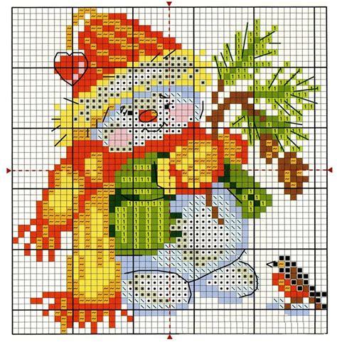 Free Cross Stitch Pattern Snowman | DIY 100 Ideas
