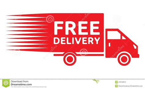 Free Delivery Truck   Free Shipping Label Stock Vector ...