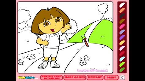 Free Dora Coloring Games Online   Coloring Pages For Kids ...
