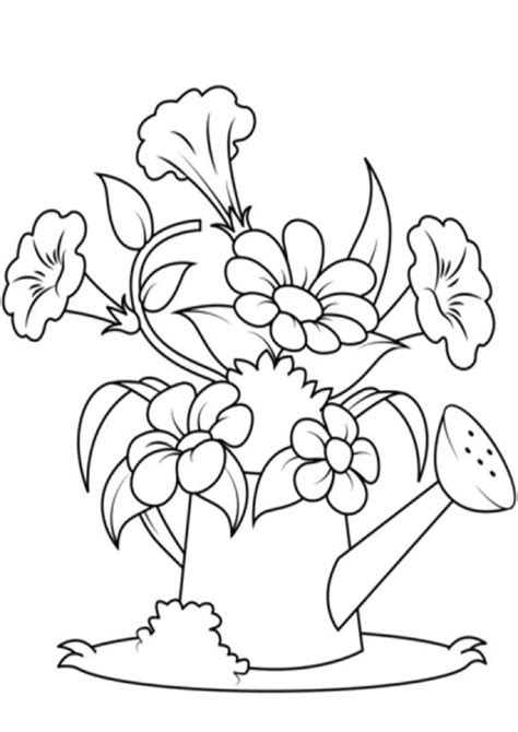 Free & Easy To Print Flower Coloring Pages   Tulamama