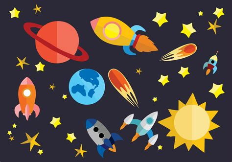 Free Flat Space Vector Illustration   Download Free ...