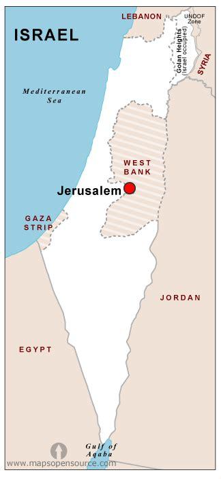 Free Israel Capital Map | Capital Map of Israel open ...
