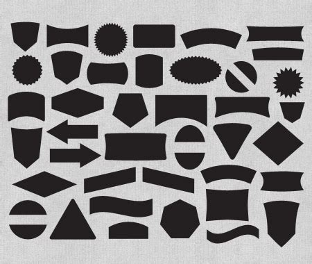 Free Label And Badge Vector Shapes   The Download includes ...