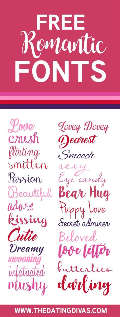 Free Love Fonts for Every Occasion   From The Dating Divas