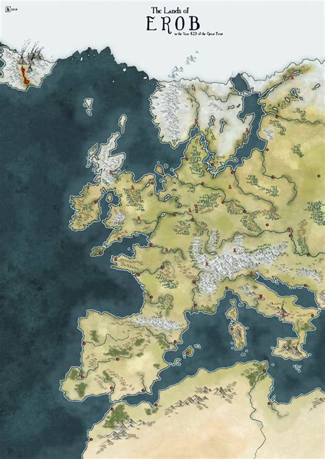 Free Map Friday   Erob after the Great Frost by ...