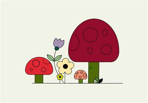 Free Mushrooms Vector   Download Free Vectors, Clipart ...