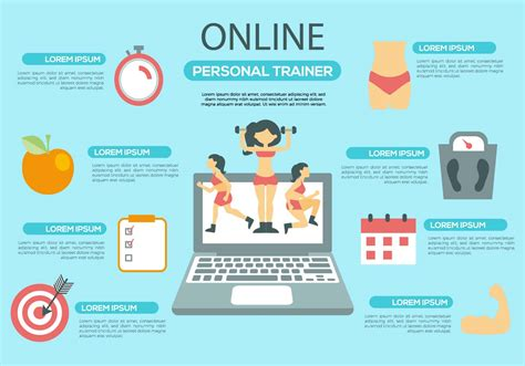 Free Online Personal Trainer Infographic Vector   Download ...