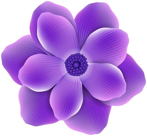 Free photo: Purple flower clip art   Bloom, Clipart ...
