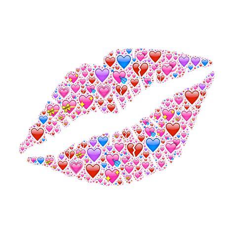 Free photo Red Emojis Hearts Passion Love Lipstick Lips ...