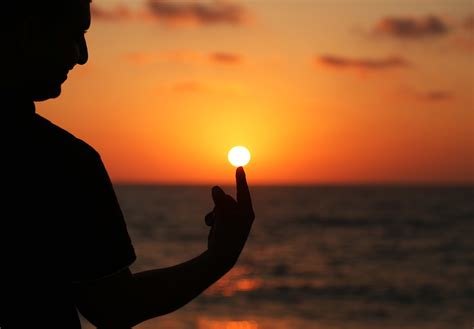 Free photo: Silhouette, Sun, Touch, Man, Finger   Free ...