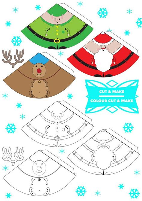 Free printable 3D Christmas characters! Finger puppets ...