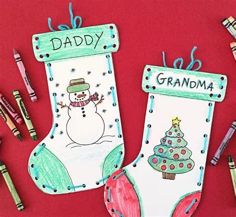 Free Printable Paper Stocking Craft for Kids ...