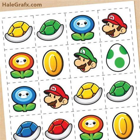 FREE Printable Super Mario Bros. Memory Game in 2019 ...