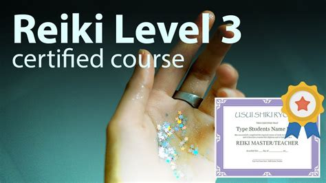 Free Reiki Course Certified Master Teacher Level 3 Full ...