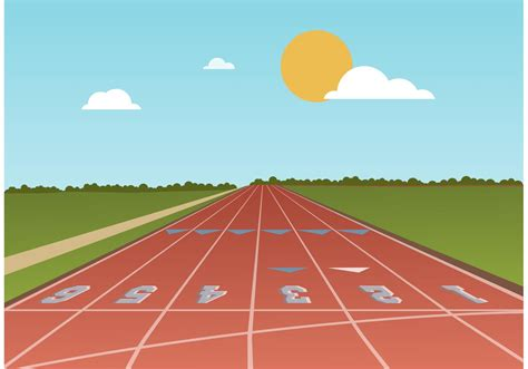 Free Running Track Vector   Download Free Vectors, Clipart ...