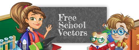Free School Vectors: Characters, Graphic Element Sets ...