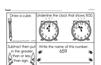 Free Second Grade PDF Math Worksheets | edHelper.com