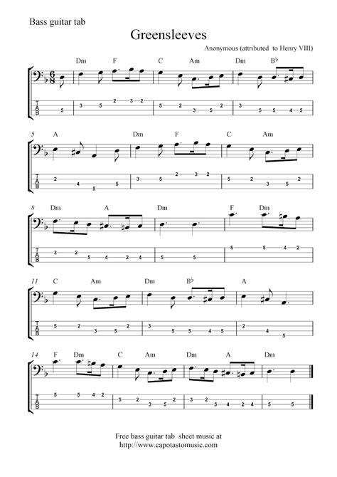 Free Sheet Music Scores: Bass tab   Bass in 2019   Guitar ...